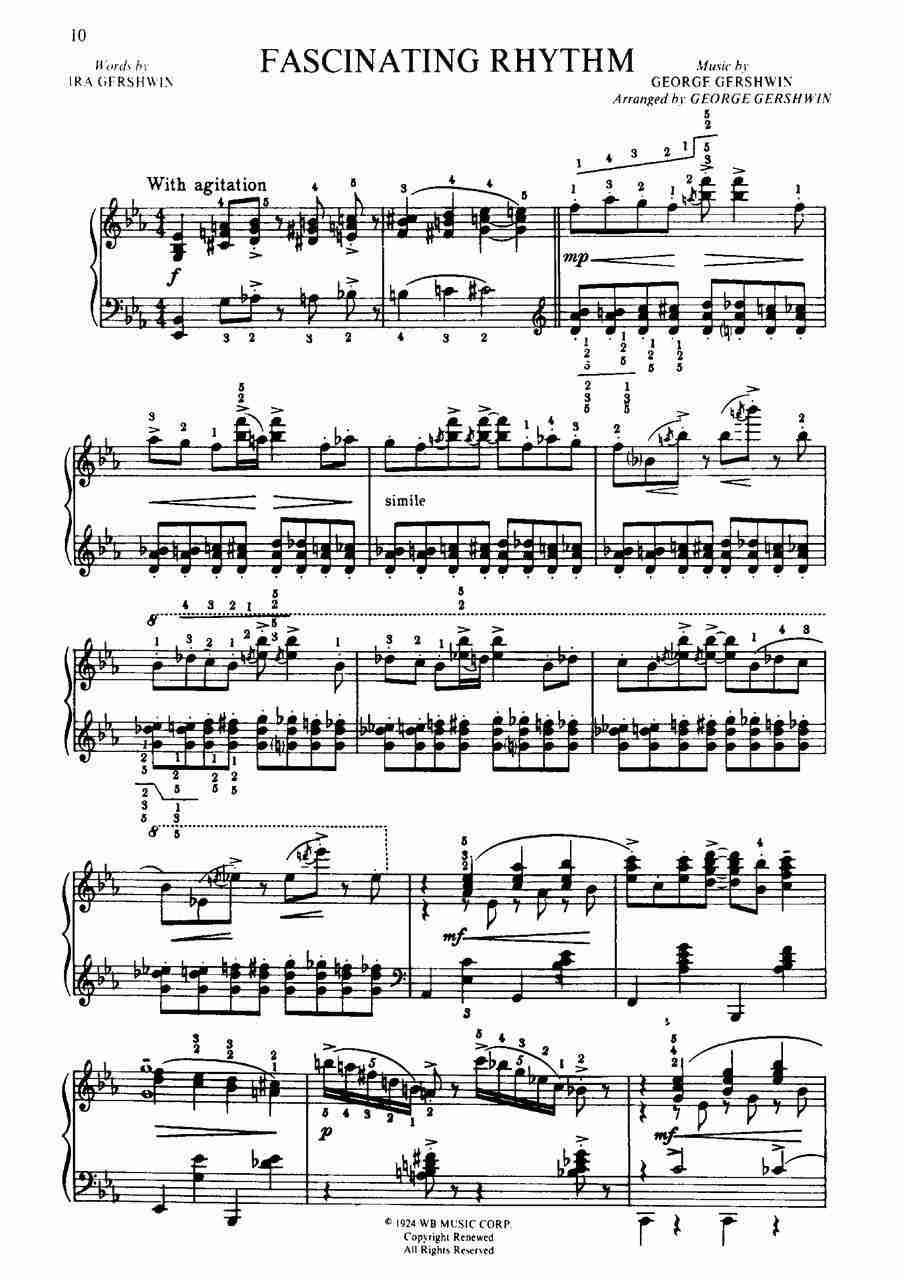 Gershwin - George Gershwin's Songbook - Piano