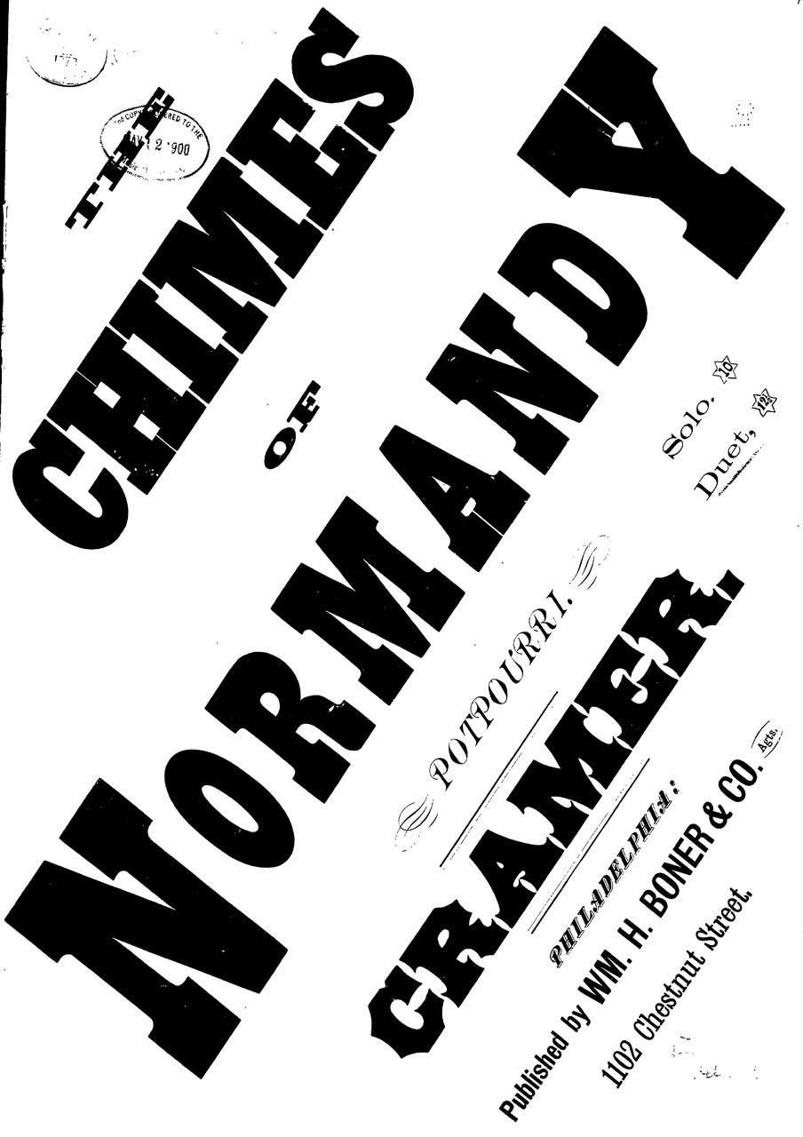 Cramer (Pseudonym) - The Chimes of Normandy - Piano 4 hands