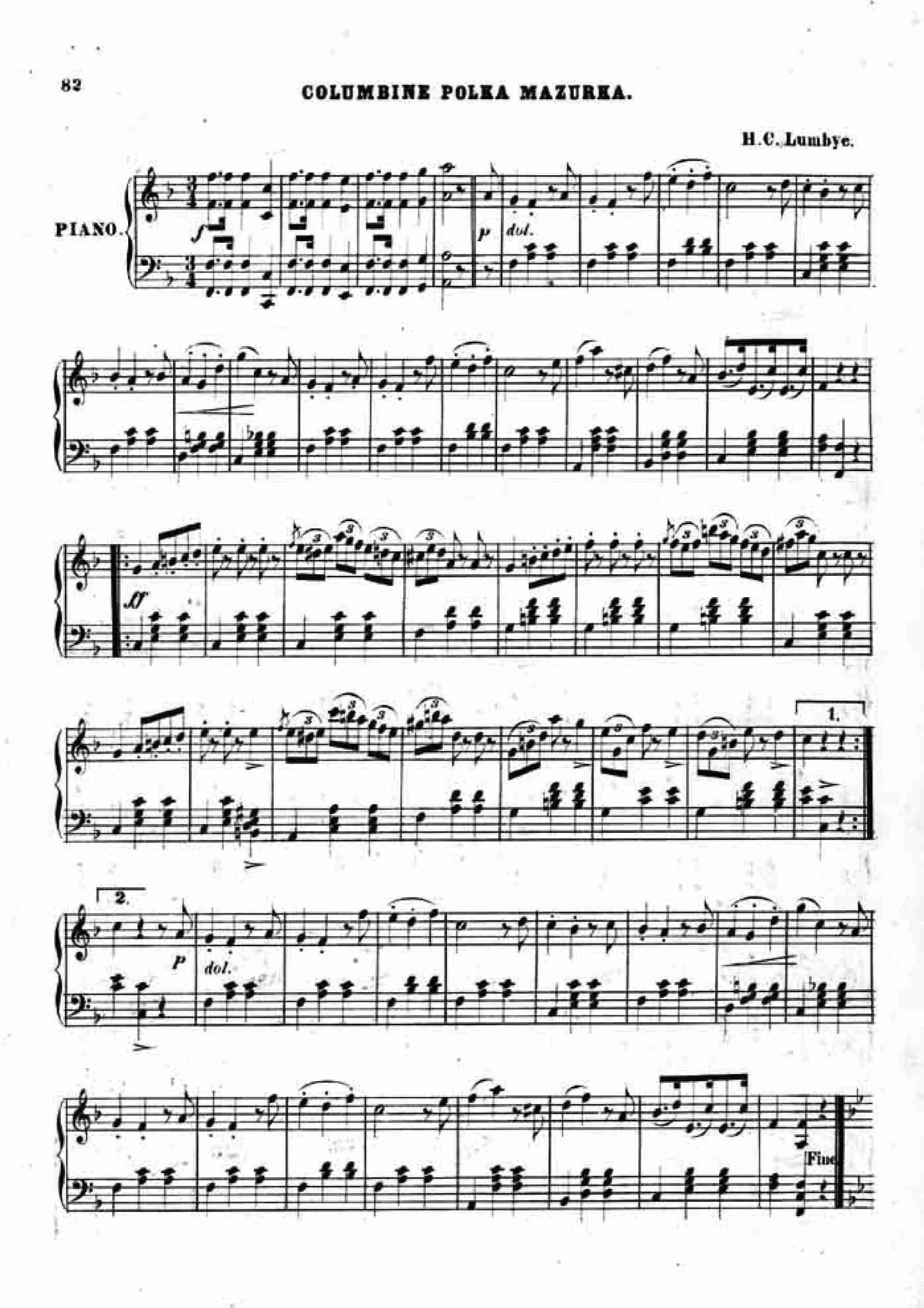 Lumbye, Hans Christian - Columbine Polka Mazurka